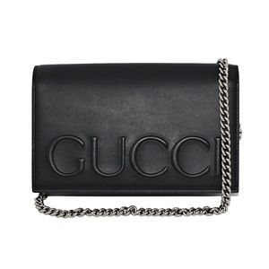 NEW GUCCI XL LOGO LEATHER CROSS-BODY BAG